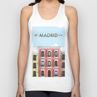 real madrid Tank Tops featuring Madrid by Sara Enriquez
