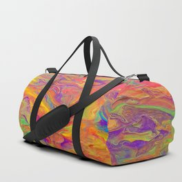 Unicorn psychedelic ice cream Duffle Bag