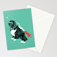 A Flying Dog In Outer Space Stationery Cards