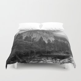 Yosemite National Park, El Capitan, Black and White Photography, Outdoors, Landscape, National Parks Duvet Cover