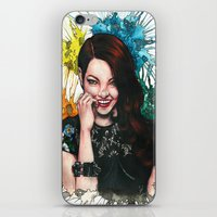 emma stone iPhone & iPod Skins featuring Emma Stone by catscratchproject