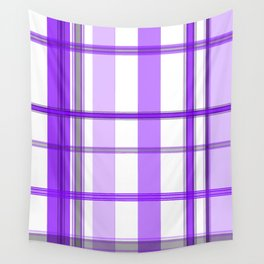 Shades of Purple and White Wall Tapestry