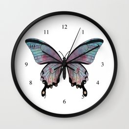 rainbow swallowtail (Papilio regnbogi) Wall Clock