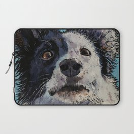 Border Collie Portrait Laptop Sleeve