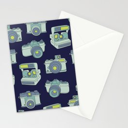 Vintage Cameras Pattern Stationery Cards