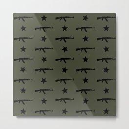 AK-47 Pattern Metal Print