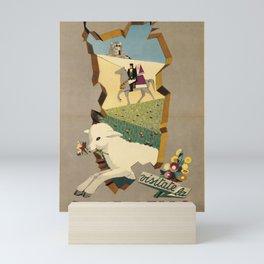 Werbeplakat visitate la sardegna italy Mini Art Print