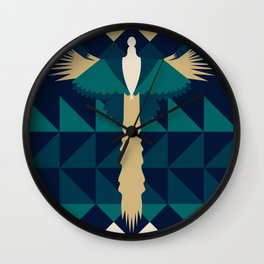 Aztec Peacock Wall Clock
