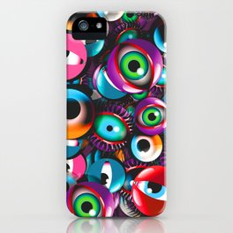Monster Eyes Party iPhone Case