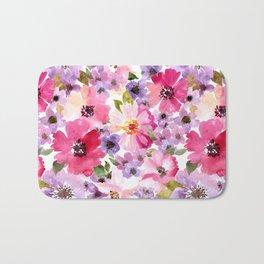 FLOWERS WATERCOLOR 6 Bath Mat