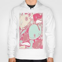 whales Hoodies featuring Whales by Amy Gale