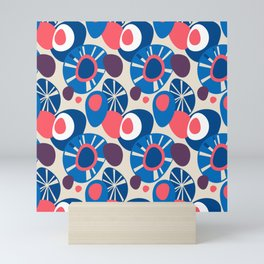 Pebbles – abstract and nature inspired pattern for scandinavian styled homes Mini Art Print