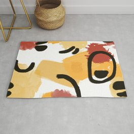 Abstract Watercolor Earthy Colors Rug