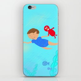 Turtle chase iPhone Skin