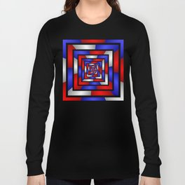 Colorful Tunnel 3 Digital Art Graphic Long Sleeve T-shirt