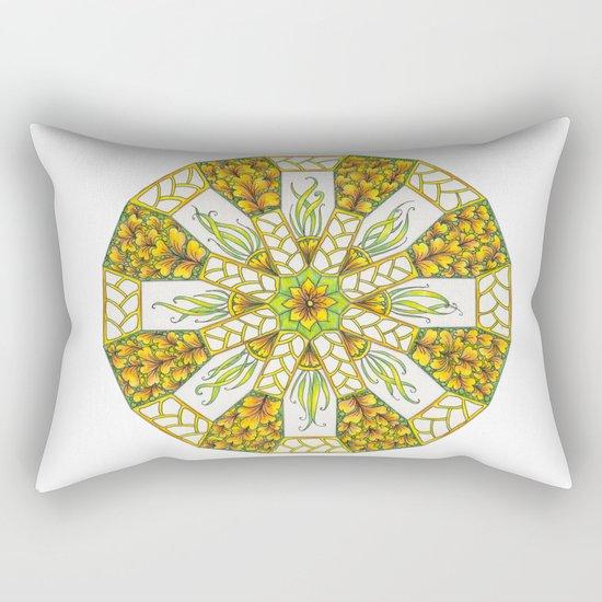 Fall Mandala Zendala Rectangular Pillow