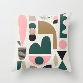 Mid century II Throw Pillow