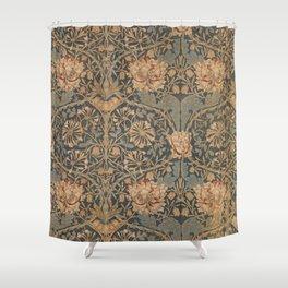 Honeysuckle by William Morris 1876 Antique Vintage Pattern, CC0 Spring Summer Shower Curtain