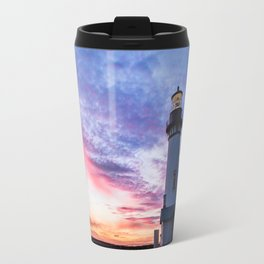 New Years Eve 2017 Sunset at Yaquina Head Lighthouse Travel Mug