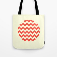 Chevron Full Circle Tote Bag