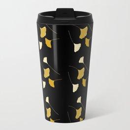 Golden Ginkgo Leaves Travel Mug
