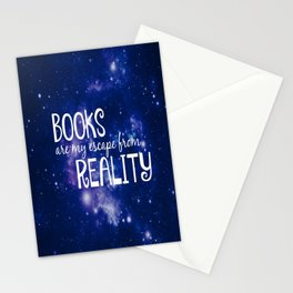 Books Are My Escape From Reality Stationery Cards