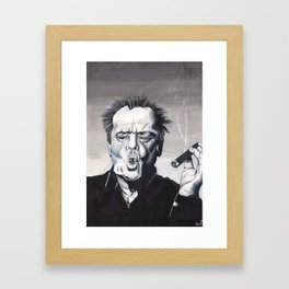 Jack Nicholson Smoke Ring Framed Art Print