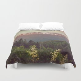 Mountain Sunset Bliss - Nature Photography Duvet Cover
