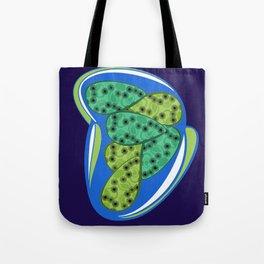 Green petal Tote Bag