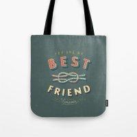 best friend Tote Bags featuring Best Friend by Seaside Spirit