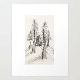 House in The Woods Art Print