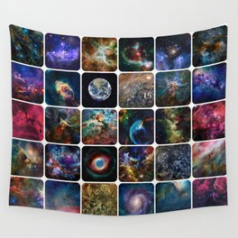 The Amazing Universe - Collection of Satellite Imagery Wall Tapestry
