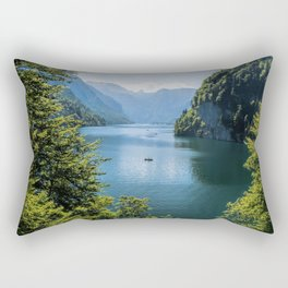Germany, Malerblick, Koenigssee Lake III- Mountain Forest Europe Rectangular Pillow