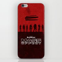 mass effect iPhone & iPod Skins featuring Mass Effect 1 by Bill Pyle