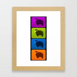 Mixed Sheeps Framed Art Print