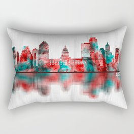 Austin Texas Skyline Rectangular Pillow