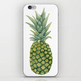 Watercolor pineapple print iPhone Skin