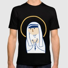 St. Teresa (Mother Teresa) Mens Fitted Tee MEDIUM Black