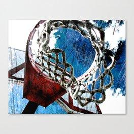 Basketball art swoosh vs 5 Canvas Print