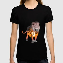 LION poster, Savanna canvas, T-shirt