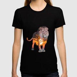 LION poster, Savanna canvas, T-shirt