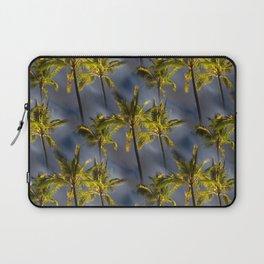 Palm Trees Tropical Night Pattern Laptop Sleeve