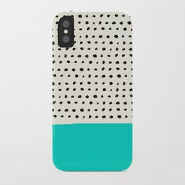 Aqua x Dots iPhone Case