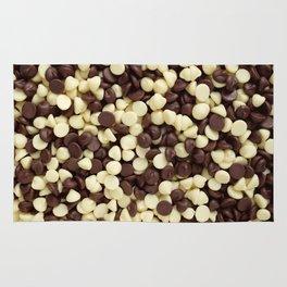 Dark and white chocolate chips Rug