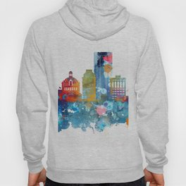 Colorful watercolor Lexington skyline Hoody