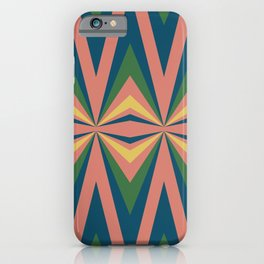 Modern Tribal in Coral Multicolor iPhone Case