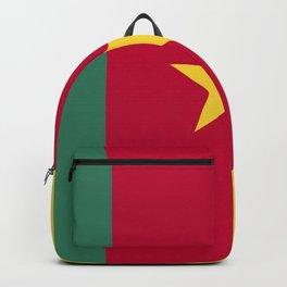 Cameroon flag emblem Backpack