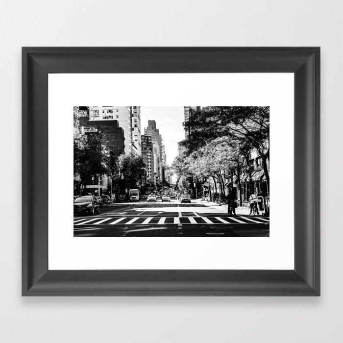 New York City Streets Contrast Gerahmter Kunstdruck