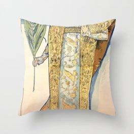 Gismonda by Alphonse Mucha Throw Pillow