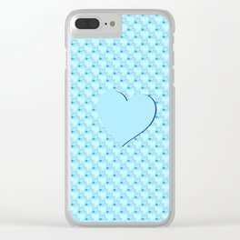 Blue hearts Clear iPhone Case